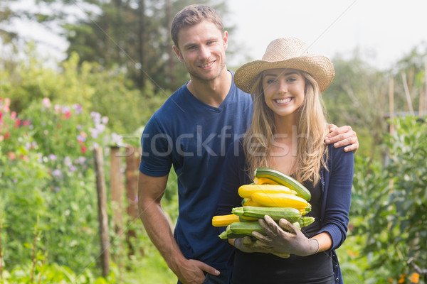 Cute couple gardening on sunny day Stock photo © wavebreak_media