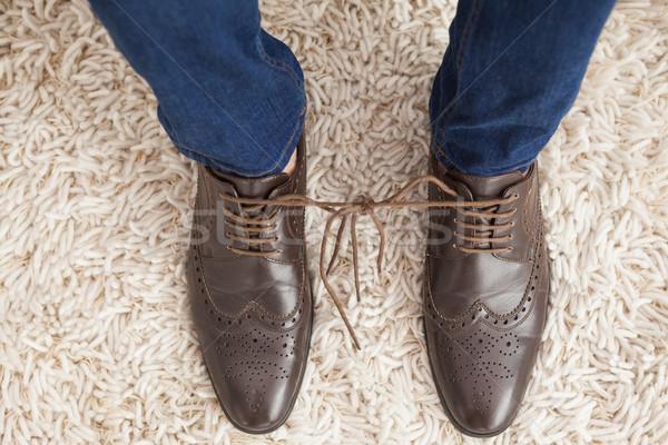 Classy mans shoelaces tied together  Stock photo © wavebreak_media
