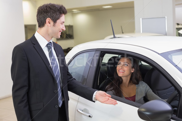 Businessman showing something to a woman Stock photo © wavebreak_media
