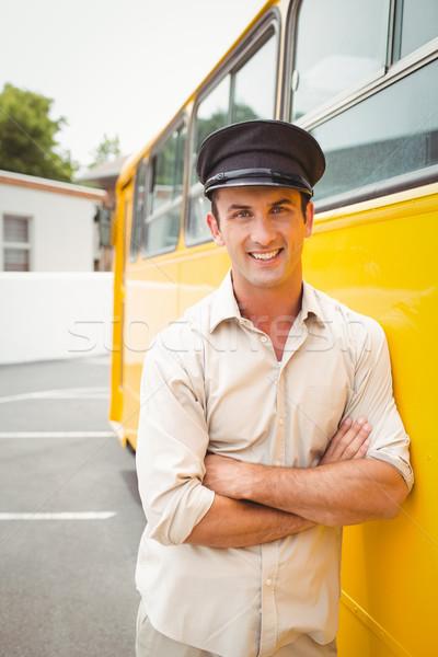 улыбаясь автобус драйвера глядя камеры за пределами Сток-фото © wavebreak_media