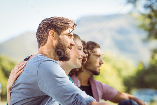 Hipsters sitting on the grass Stock photo © wavebreak_media