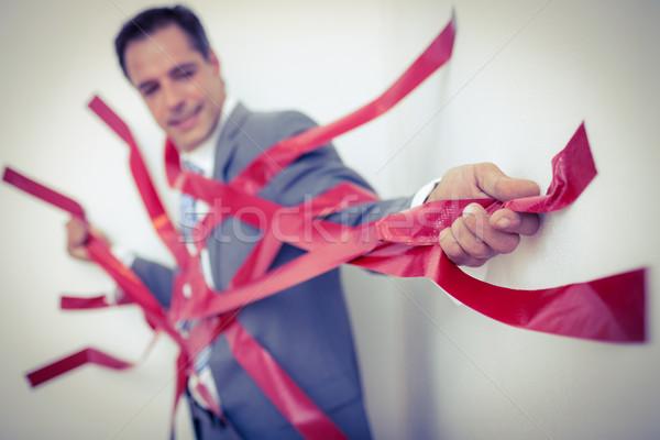 Biznesmen uwięzione biurokracja biały działalności człowiek Zdjęcia stock © wavebreak_media