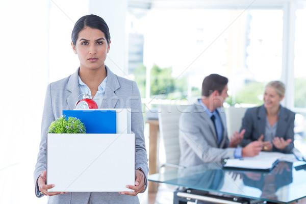 üzletasszony hordoz doboz nő szomorú öltöny Stock fotó © wavebreak_media