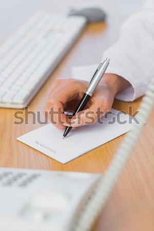 Médico escrito abajo trabajo notas portapapeles Foto stock © wavebreak_media