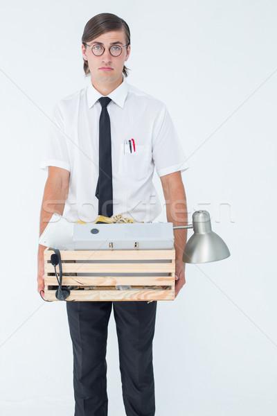 Empresário caixa negócio triste retrato Foto stock © wavebreak_media