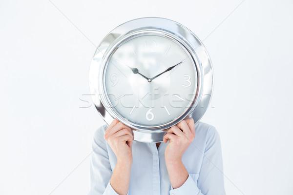 Işkadını takım elbise saat beyaz yüz Stok fotoğraf © wavebreak_media