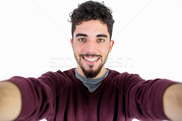 Toevallig man shot studio gelukkig Stockfoto © wavebreak_media