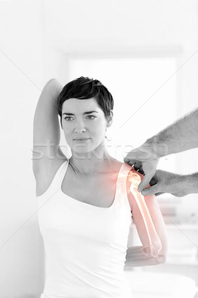 骨 女性 デジタル複合 医師 医療 健康 ストックフォト © wavebreak_media