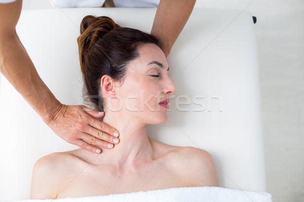 首 マッサージ 医療 オフィス 女性 健康 ストックフォト © wavebreak_media