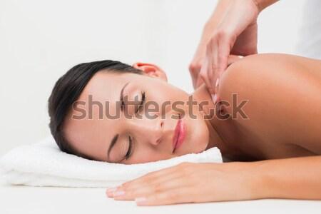 Beautiful blonde getting a head massage  Stock photo © wavebreak_media
