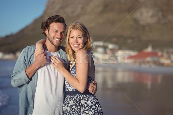 портрет счастливым пляж Сток-фото © wavebreak_media