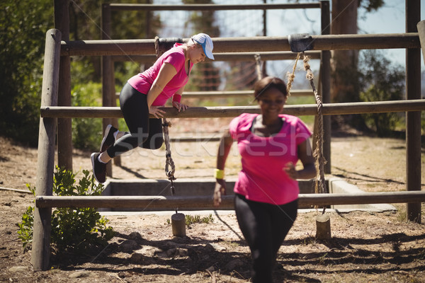 Women exercising during obstacle course Stock photo © wavebreak_media
