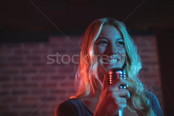 Female singer performing at music concert Stock photo © wavebreak_media