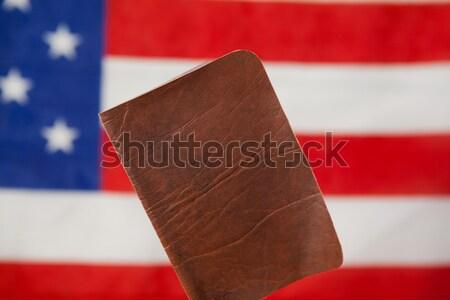 Passaporte bandeira americana segurança azul viajar Foto stock © wavebreak_media