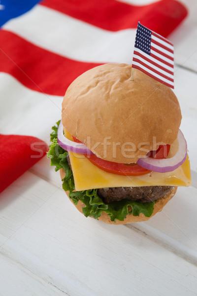 Hamburger with 4th july theme Stock photo © wavebreak_media