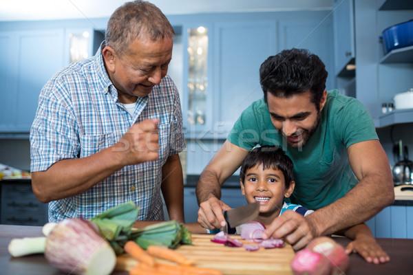 Man naar jongen ui vader Stockfoto © wavebreak_media
