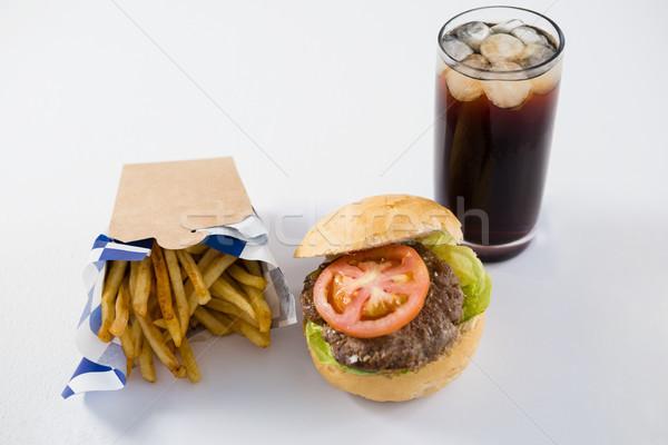 Burger beber ver branco Foto stock © wavebreak_media