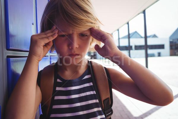 少年 頭痛 立って 廊下 学校 ストックフォト © wavebreak_media
