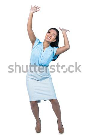 Eccitato imprenditrice dancing bianco ritratto dance Foto d'archivio © wavebreak_media