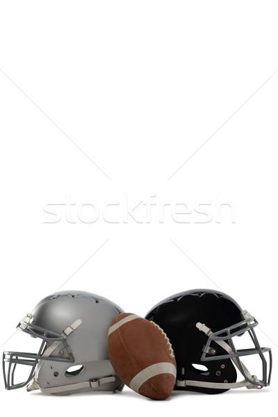 Amerikai futball sisakok fehér sport fém Stock fotó © wavebreak_media