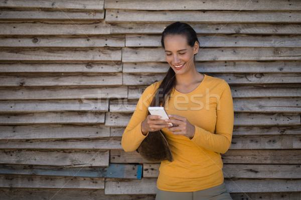 Homme jockey écurie permanent femme Photo stock © wavebreak_media