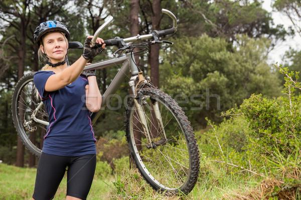 Mountain bike natureza mulher Foto stock © wavebreak_media