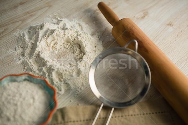Mąka wałkiem drewna Motyl kuchnia Zdjęcia stock © wavebreak_media