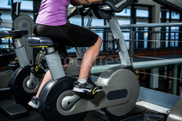 Mid section of woman doing bike exercise  Stock photo © wavebreak_media