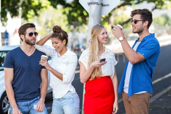 Hip friends spending time together Stock photo © wavebreak_media