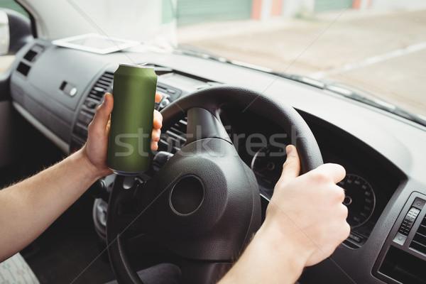 男 運転 酔っ ヴァン 手 ビール ストックフォト © wavebreak_media
