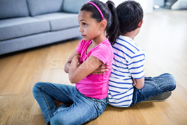 Zaklatott testvérek egyéb otthon ház lány Stock fotó © wavebreak_media