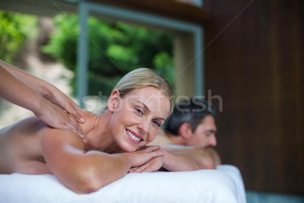 Donna indietro massaggio massaggiatore ritratto spa Foto d'archivio © wavebreak_media
