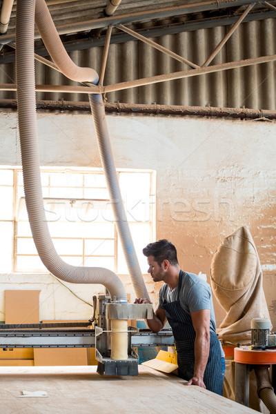 ács dolgozik poros műhely férfi munkás Stock fotó © wavebreak_media