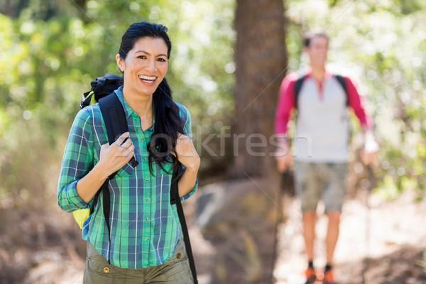Woman smiling and hiking Stock photo © wavebreak_media