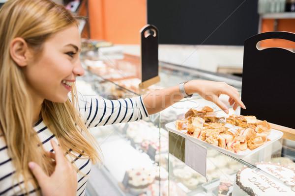 Vista laterale donna dessert business Foto d'archivio © wavebreak_media