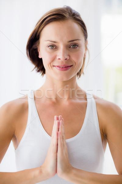 Ritratto donna sorridente yoga sorridere fitness Foto d'archivio © wavebreak_media