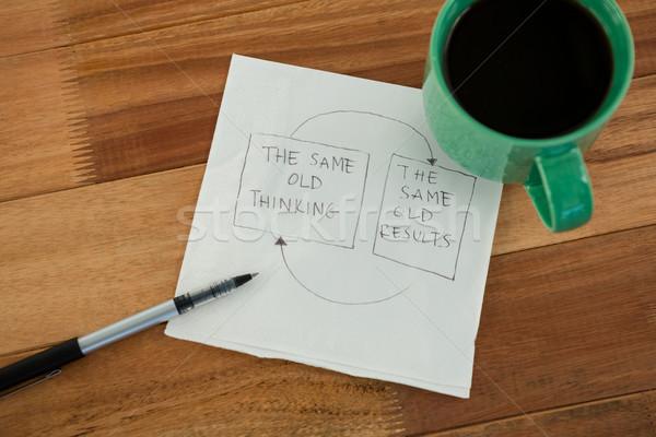 クローズアップ コーヒーマグ 紙 ペン 表 オフィス ストックフォト © wavebreak_media