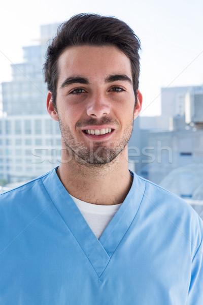 Ritratto bello chirurgo clinica felice ospedale Foto d'archivio © wavebreak_media