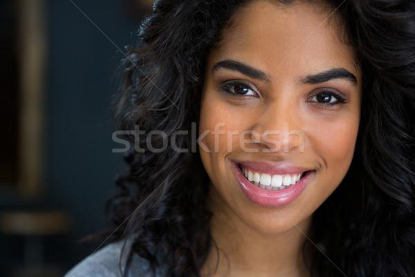 улыбаясь кофейня дома улыбка счастливым Сток-фото © wavebreak_media