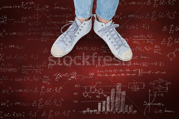 Composite image of woman wearing trainers  Stock photo © wavebreak_media