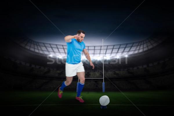 Imagem rugby jogador pronto chutá Foto stock © wavebreak_media