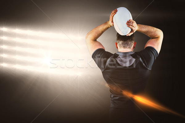 Imagen duro rugby jugador Foto stock © wavebreak_media