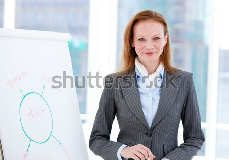 Radiant business woman working on a computer Stock photo © wavebreak_media