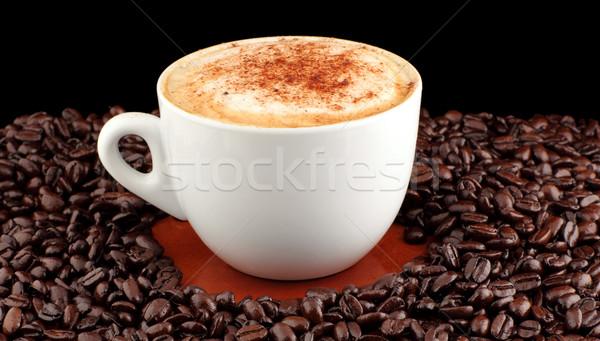 Matin grains de café bar énergie tasse Photo stock © wavebreak_media