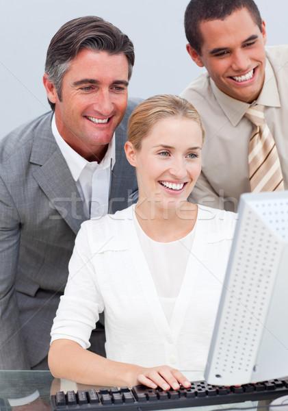 Business team werken computer kantoor toetsenbord zakenman Stockfoto © wavebreak_media