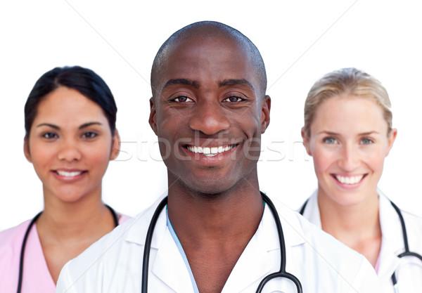 портрет харизматический медицинской команда белый улыбка Сток-фото © wavebreak_media