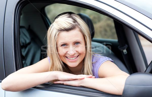 Portrait of a happy young female driver Stock photo © wavebreak_media