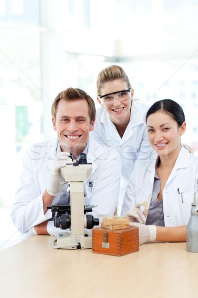 ストックフォト: 科学 · 学生 · 作業 · 室 · 女性