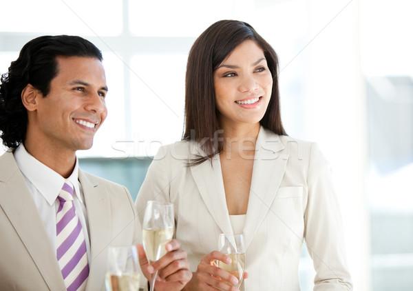成功した ビジネスの方々  飲料 シャンパン オフィス 女性 ストックフォト © wavebreak_media