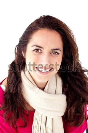 楽しい 女性 着用 スカーフ 笑みを浮かべて カメラ ストックフォト © wavebreak_media